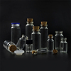 0.5 1 2 3 4 5ml 10ml 15ml 20ml 30ml 50ml 100ml clear glass bottle with cork stoppers
