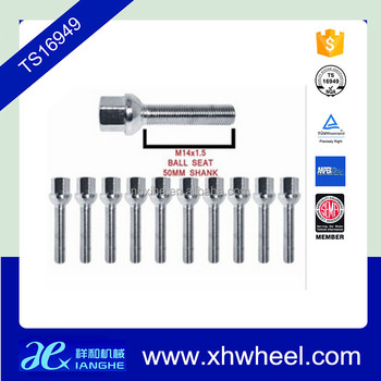 Professional manufacturer of car alloy wheel ball seat lug bolts