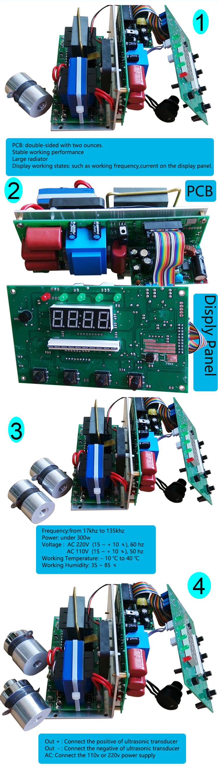 High Frequency Ultrasonic Cleaning Transducer Driver Circuit With Digital  Panel - Buy Transducer Driver Circuit,Cleaning Transducer Driver
