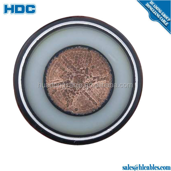 High Tension Copper Conductor Armored Cable ,SWA, Armoured/Unarmoured Single Core PVC Power Cable