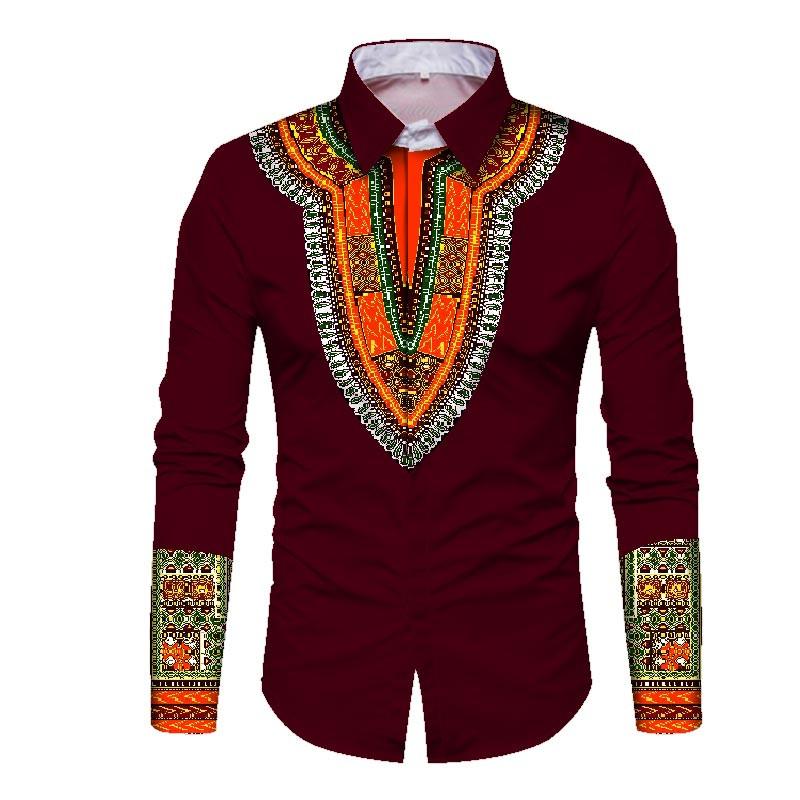 8d4085f23 OEM Trending Men African Fashion Dashiki Design Print Shirt Mandarin Collar  Personal Customized African Men Clothing WYN352