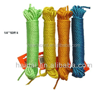 Outdoor 3mm/4mm/5mm Clothesline/PVC Rope