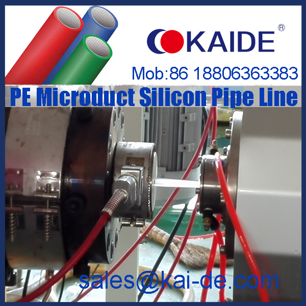 HDPE PE Micro duct silicone pipe making machine/production line