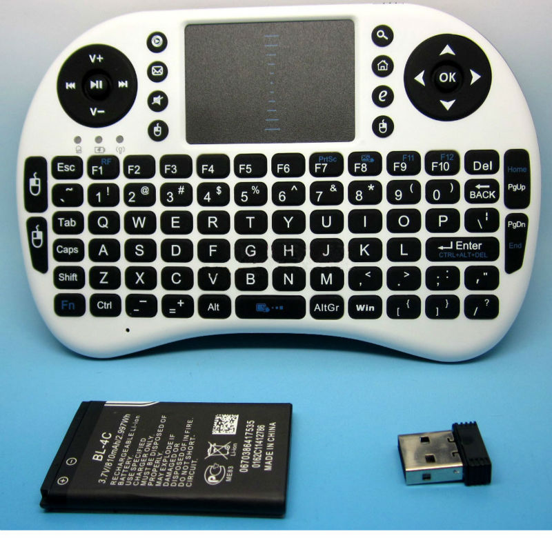 Miniature nwk01 Wireless 2.4 Ghz Ultra slim Keypad Keyboard Tv Remote Game pad