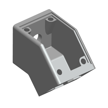 315.0300A Aluminum profile accessories 135 degree metal angle bracket 45*45 corner connector