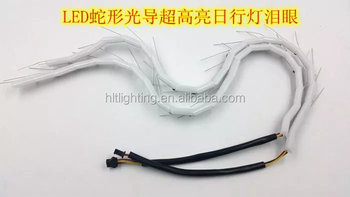 China LED flexible strip, Snake shape crystal tear eyes for auto drl/turning light,car part for retrofit