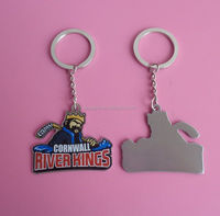 River King Cornwall Design Metal Keyring Keychain for Promotional Gifts