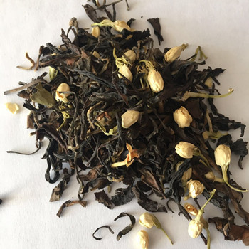 Jasmine White Tea, White Tea With Dried Jasmine Buds, Organic Dried Arabian Jasmine Blended Tea EU Standard - 4uTea | 4uTea.com