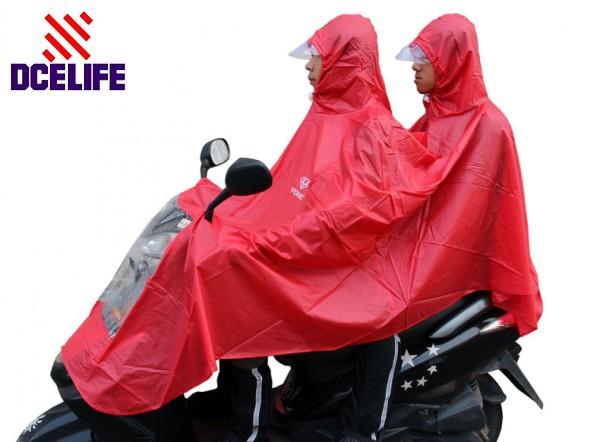 Ес и сша прочный 100% водонепроницаемый два человек дождевики мотоцикл / Electrombile плащ SECT01