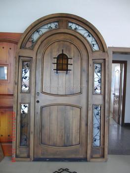Rustic Round Top Exterior Door - Buy Knotty Alder Exterior Door,48 ...