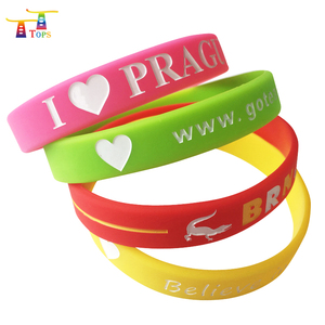 Ink filled Color Rubber Cool Imprint Silicone bracelets Engraved sport health in Wristband