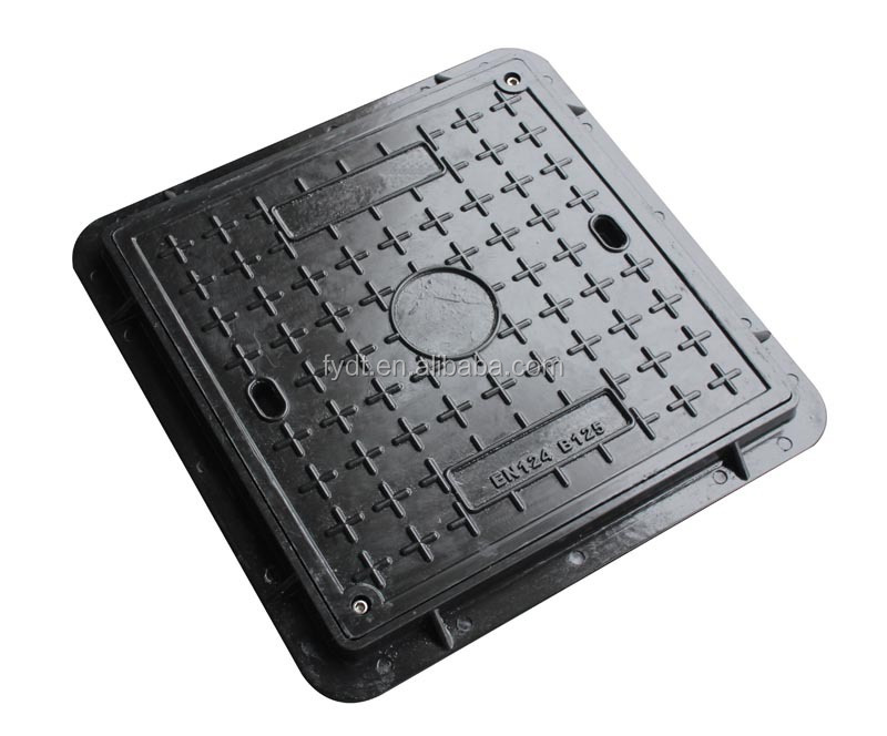 Manhole Cover High Polymer Material SMC Municipal Telecom Electrical Safety Product CC-2083