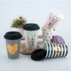 New arrival silicone lid wedding gift 24K gold painting promotional ceramic coffee travel mug