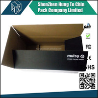 FOB Shenzhen custom made high quality cheap price packaging shipping and moving carton foldable corrugated black cardboard boxes