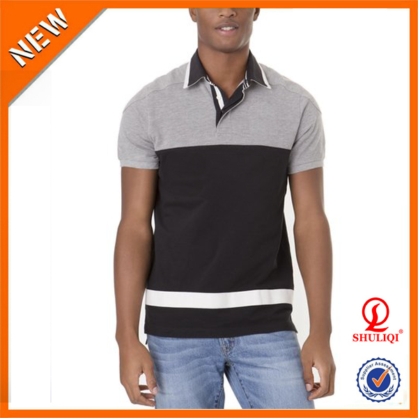 high quality black mallet slim fit color block dry fit polo shirt