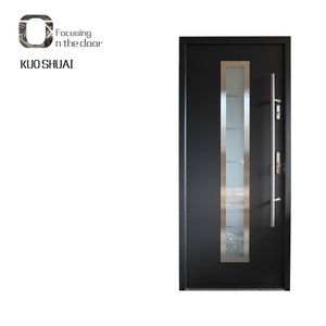 Popular office wood door modern design office glass door