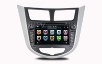 Free shipping car dvd player car audio For Hyundai Solaris Verna with DVD GPS Bluetooth 3G USB SD Ipod Map