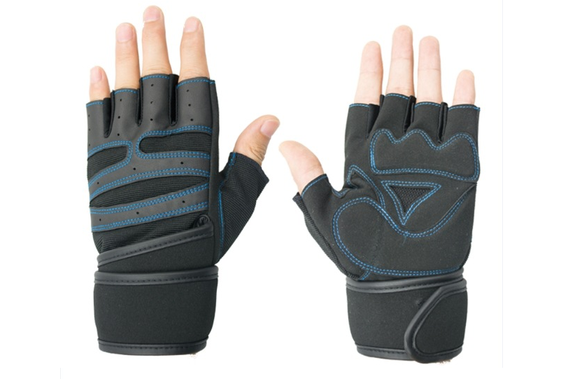 non-slip gym training gloves rubber lifting grips