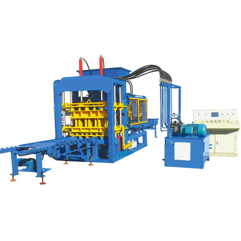 Hydraulic and vibrator block machine