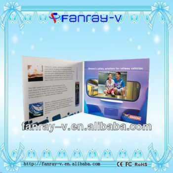 2.4 inch TFT Video Greeting Card,Video Book,Greeting Card for gifts and promotion