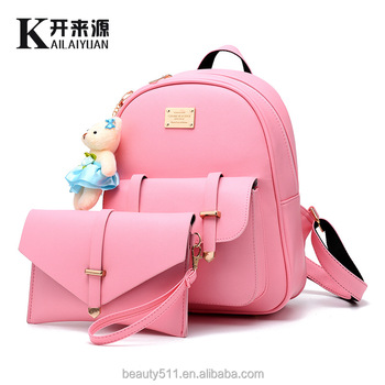 New Casual Women Backpack Female PU Leather Women s Backpacks Bagpack Bags  Sport Travel Bag back pack 7d6be2a0282cd