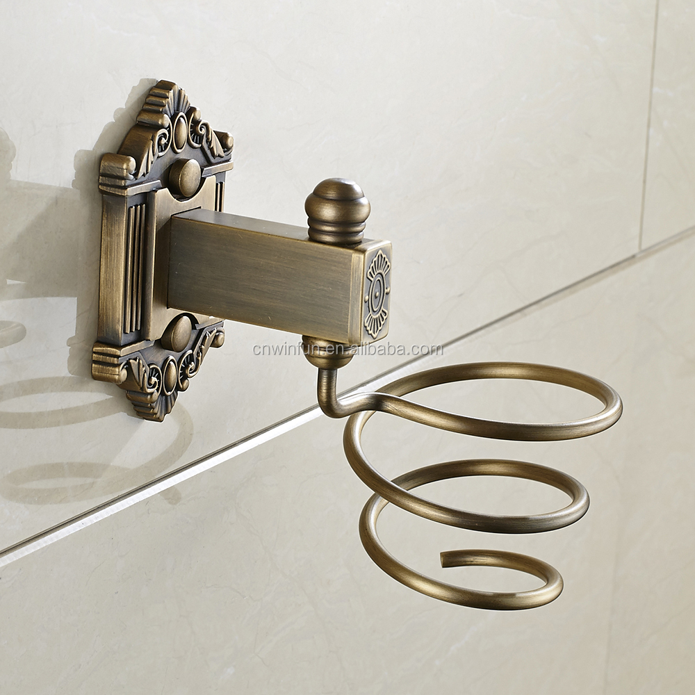 Hair Dryer Holder Wall Mounted Antique Bathroom Accessories Hotel