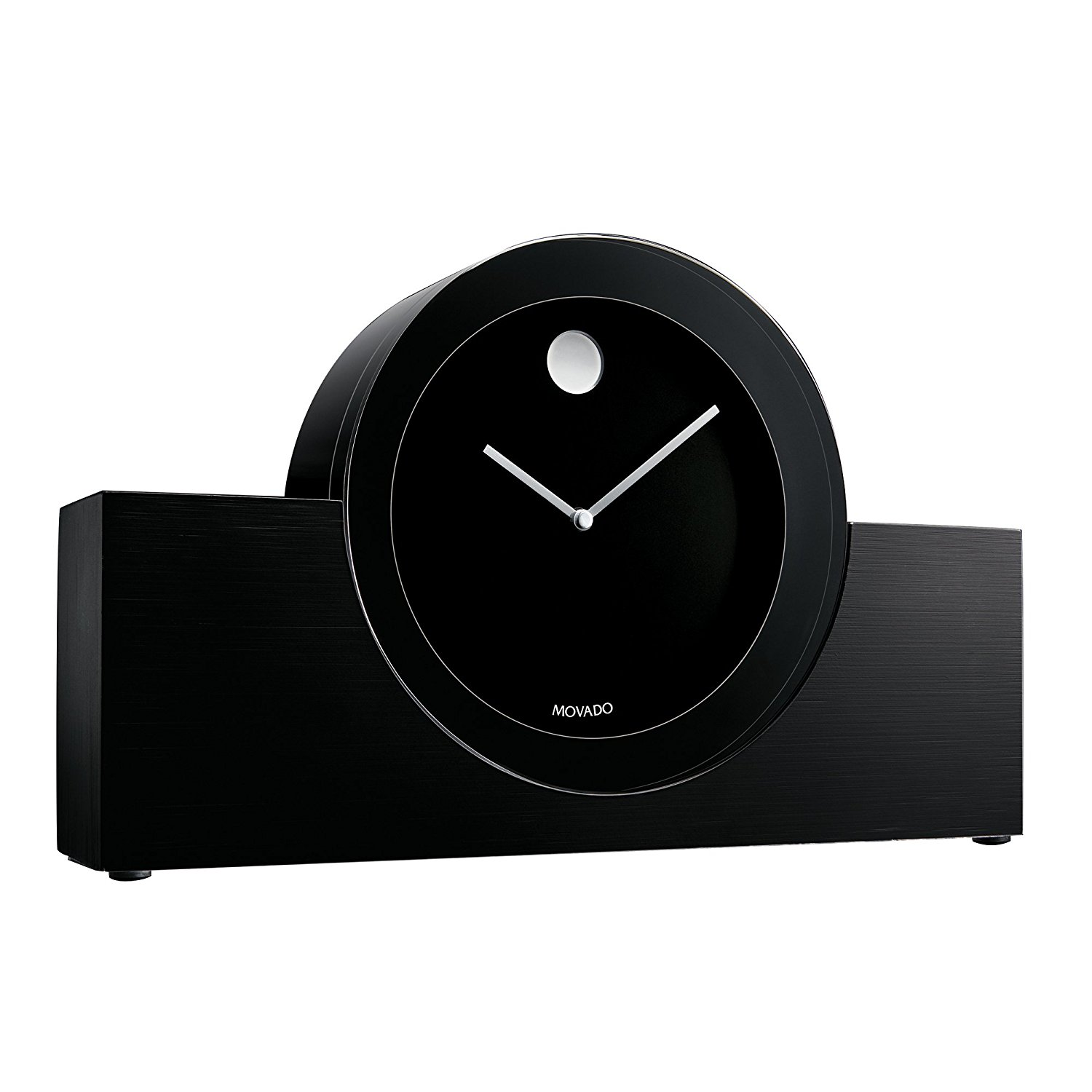 Get Quotations · Movado Black/Aluminum Crystal Clock Great Pictures