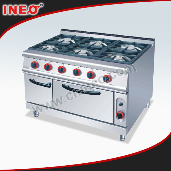Free Standing 6 Burners Gas Cooker Oven/Gas Cooker With Oven/Gas Range Oven