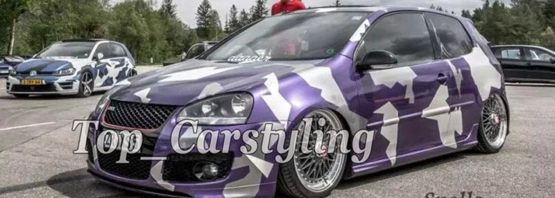 Purple White Large Pixel Camo Car Wrapping Film Camouflage