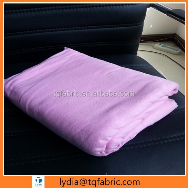 100% cotton pink color dyed flannel fabric two side brushed 150gsm for cleaning
