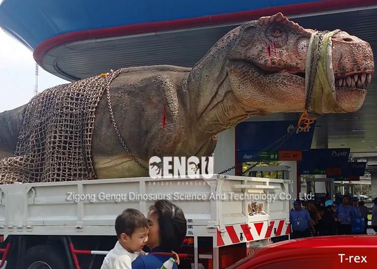 Аниматронных Динозавров Trex Динозавров Парк Развлечений - B