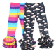 Wholesale Baby Children's Boutique Kids Clothes Clothing Milk Silk Rainbow Printed Leggings Bell Ruffle Bottom Pants