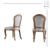 Vintage french camelback fabric curved dining room chair