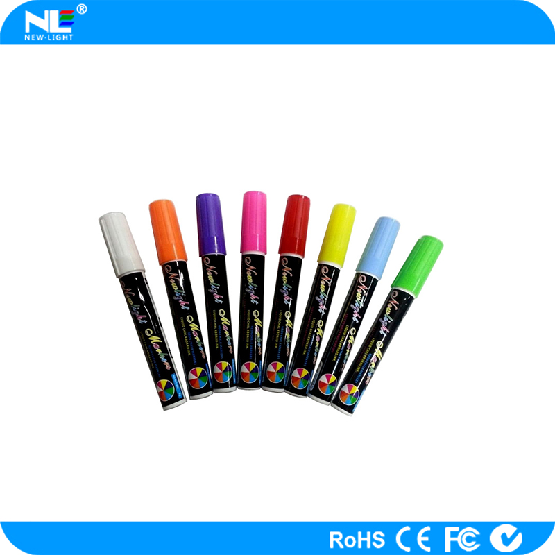 Water erasable marker pen/fluorescent marker pen/skin marker pen with ruler for LED advertising writing board