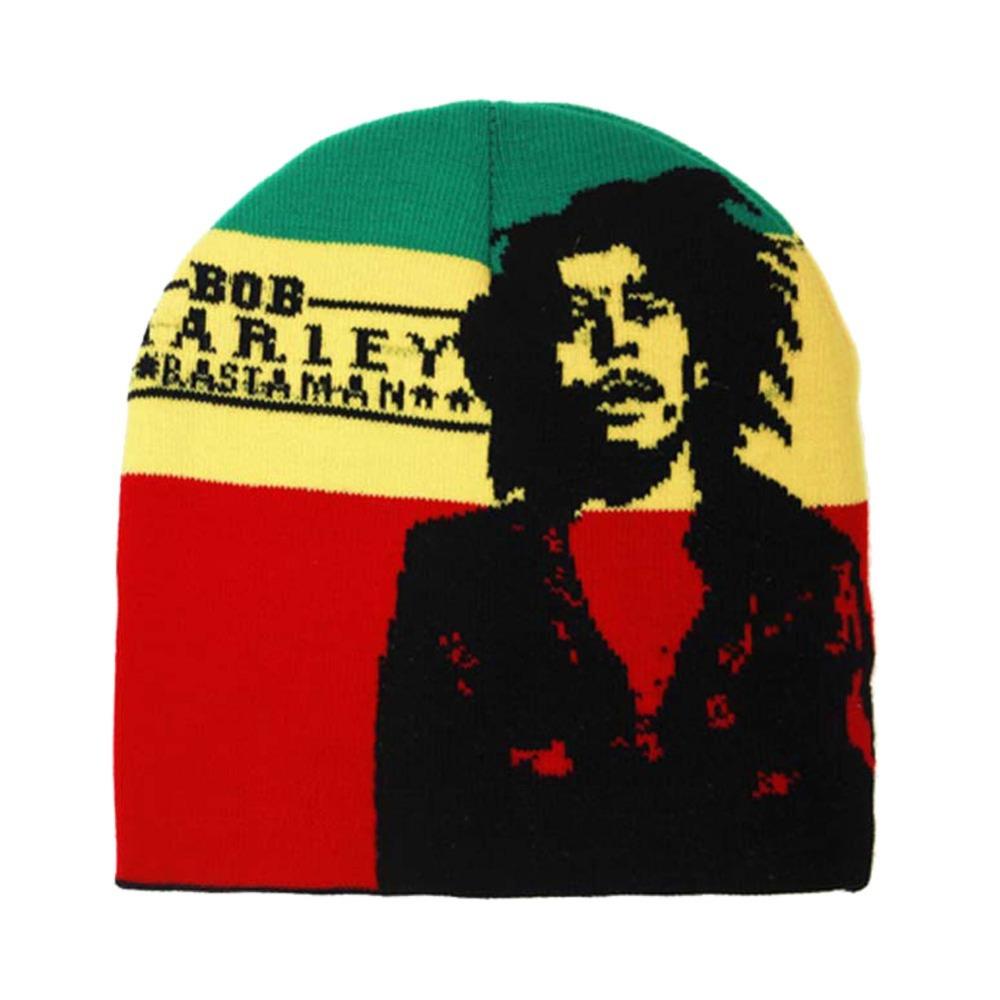 635e6e15efb Get Quotations · Winter Jamaica Knitted Reggae Rasta Bob Marley Style  Beanies Hat Skullies Gorro Cap BLACK RED YELLOW
