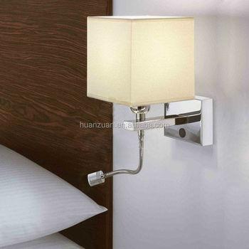 mode vierkante kap roestvrij stalen kamer led wandlamp leidde nacht leeslamp