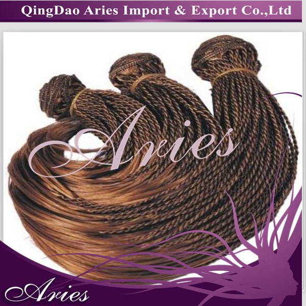 hand tied braids synthetic hair weft