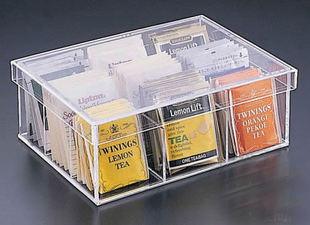 Yageli Acrylic Transpa Tea Storage Box Bag Milk Coffee Sugar