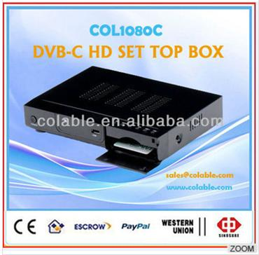 full decoder receiver, DVB-C HD MPEG2/MPEG4/H.264 Set Top Box, hd stb dvb-c tv receiver supports CAS 1080C