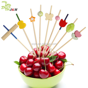 Handmade Cute Cocktail Sticks Sandwich Fruit Bamboo Decorative Skewer