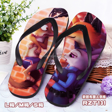 Wholesale Cosplay Zootopia Soft Rubber Slippers Anime Flip-flops S M L