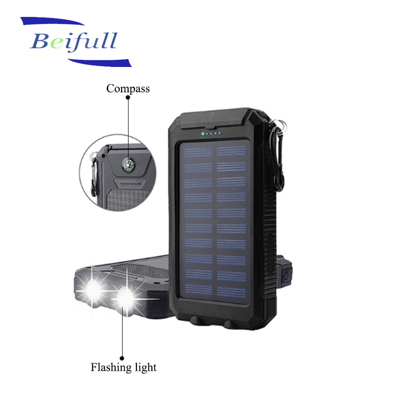 Outdoor waterproof Solar Power Bank 8000mah <strong>portable</strong> with Illuminated led light