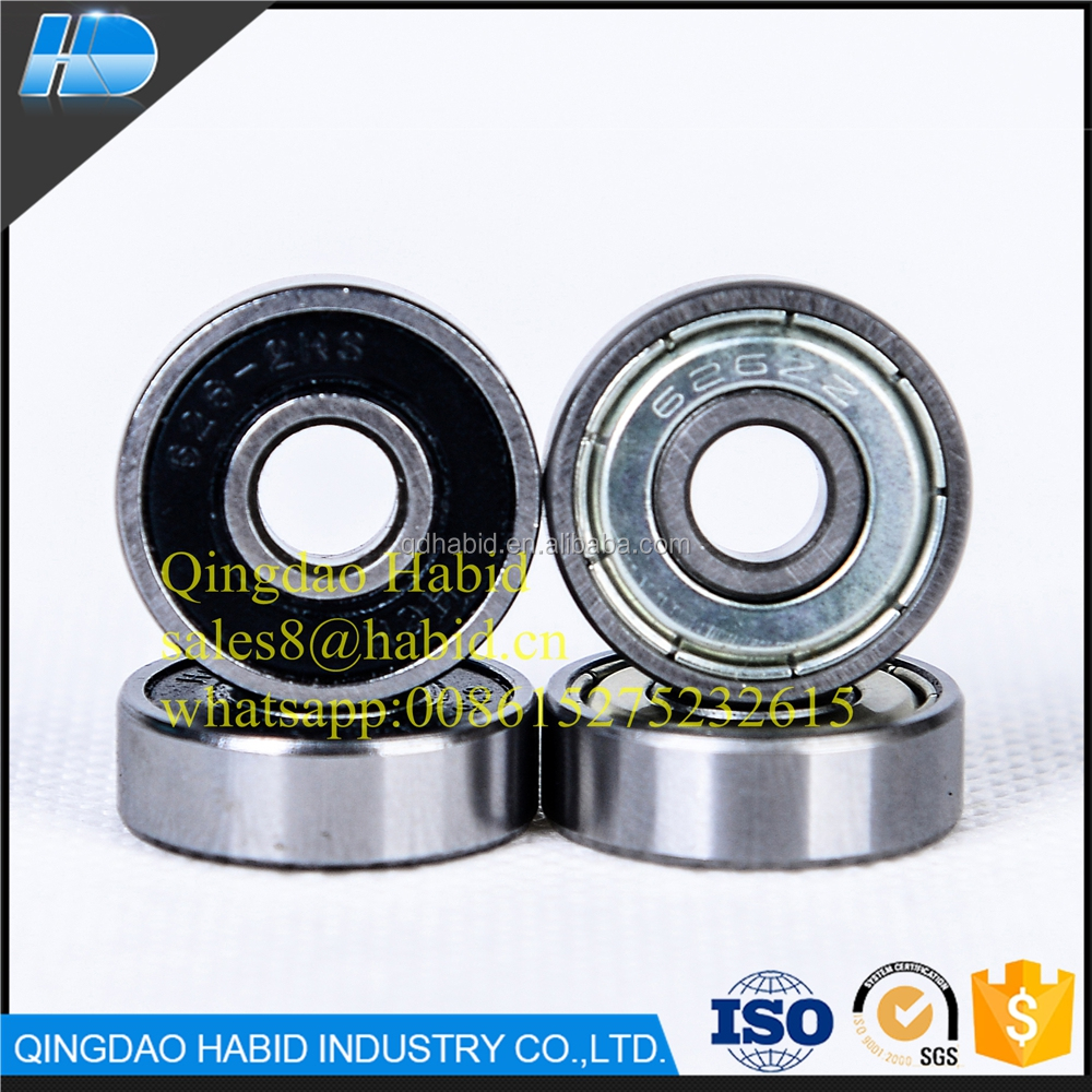 Small plastic 626 ball bearing pulley wheel 6*19*6 factory price 626-2Rs 626zz ZZ Small Ball Bearing