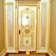 luxury white and gold best quality main wood bedroom door with solid wood carved