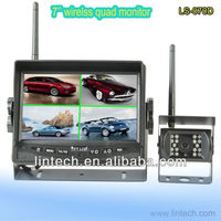 easy install wireless quad monitor car backup camera system for lorry