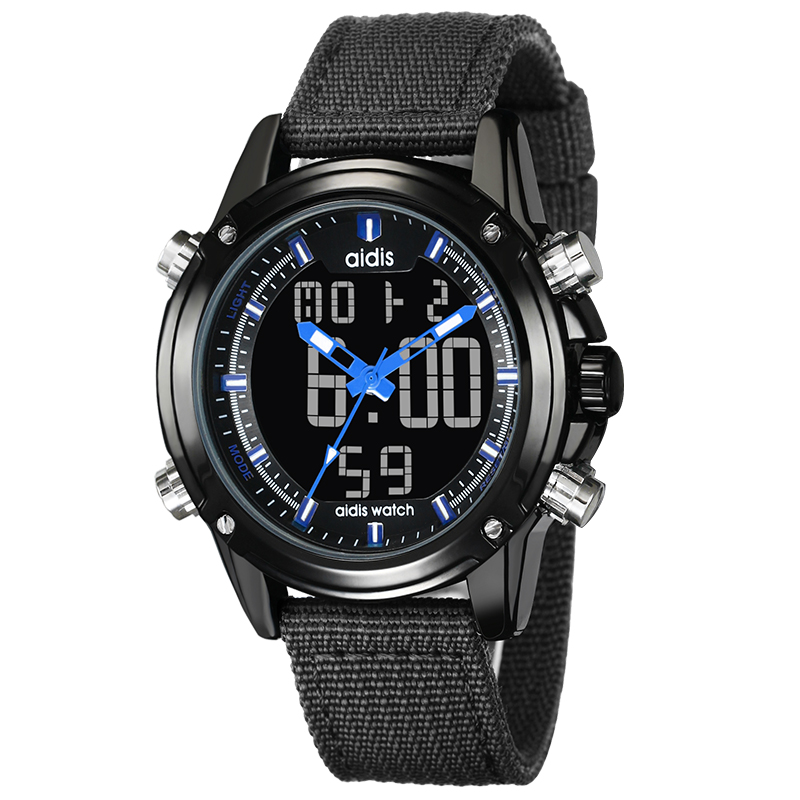 2019 Promotional Digital Sport Watch Men Wrist Chronograph, Black + yellow;black + red;black + gray;black + blue