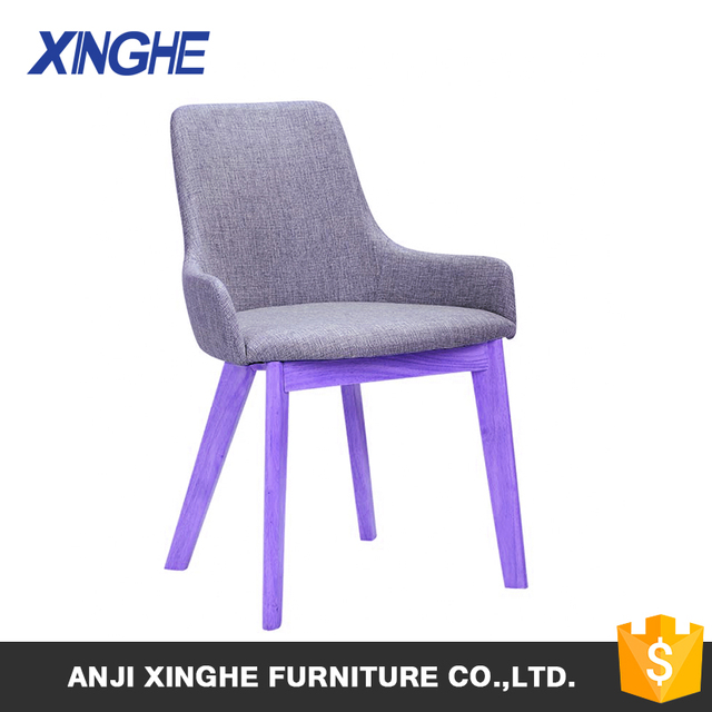 Exceptional 2018 Modern Design Violet Wooden Frame Furniture Dining Chair