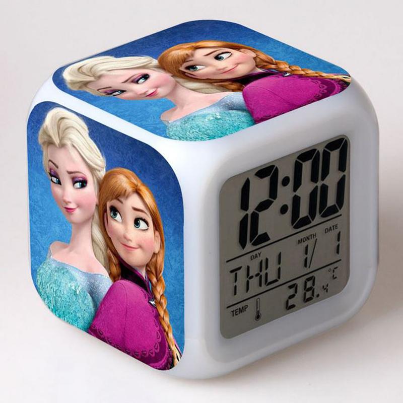 jeu jouet reveil horloge veilleuse enfant elsa reine des neiges frozen gratuit ebay. Black Bedroom Furniture Sets. Home Design Ideas
