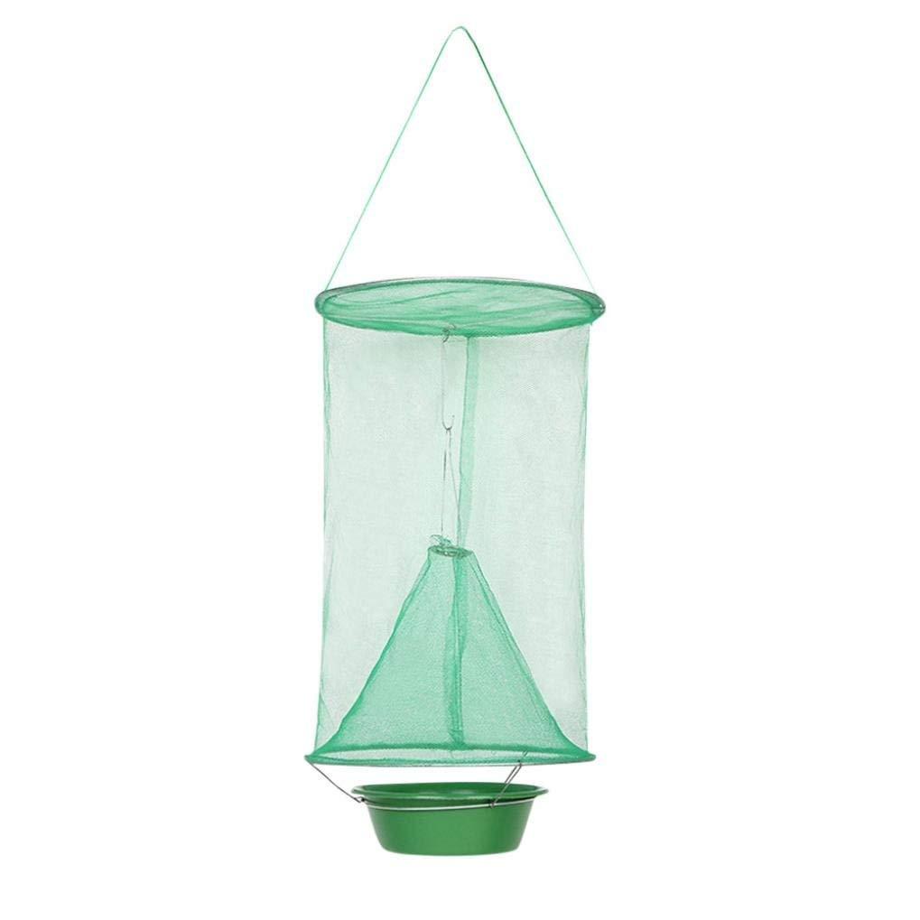 Vincent&July Vinjeely The Ultimate Red Drosophila Fly Trap Device Top Catcher Ourdoor Garden Fly Wasp Insect Trapping about2442cm