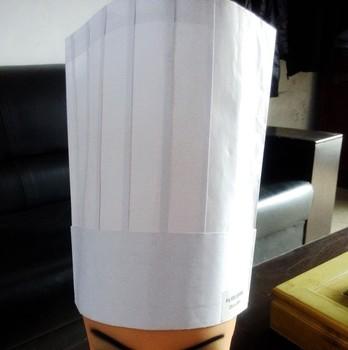e77a746af52ca Chapéu do cozinheiro chefe de papel descartável chapéu do cozinheiro chefe  de papel impressão do logotipo